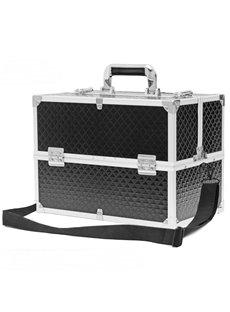 Black PU Professional Portable Cosmetic Case