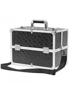 Heart Pattern Professional Portable Cosmetic Case