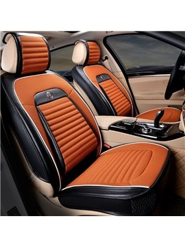 Fresh Contrast Color Design Soft Cost-Effective Durable PU Velvet Material Universal Car Seat Cover