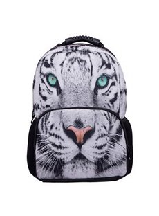 Outdoor 3D White Tiger Face Hiking and Traveling 1.15L Durable 2 Layers Backpack