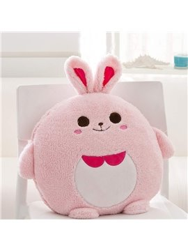 Cute Cartoon Pink Rabbit Pattern Design Three Kinds Of Use Multi-Functional Car Pillow
