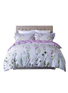 Pastoral Style Floral Egyptian Cotton 4-Piece Duvet Cover Sets