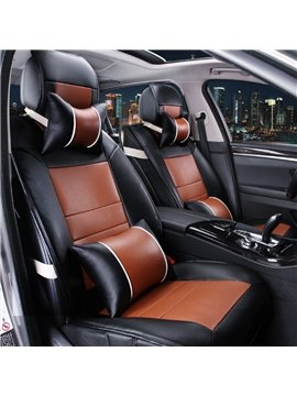 Luxury Charming Contrast Color PU Leather Material Universal Car Seat Cover