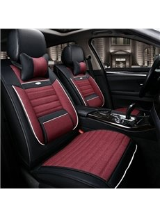New Red Black Contrast Color Design Durable PET Material Universal Car Seat Cover