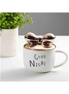 Modern Fashion Lovely Butterfly Decoration Ceramic Coffee Mug