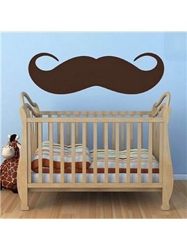 Lovely 80cm Huge Beard Design Kids Wall Decal