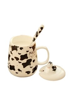 Lovely Ceramic Creative Dairy Cow Pattern Design Coffee Mug