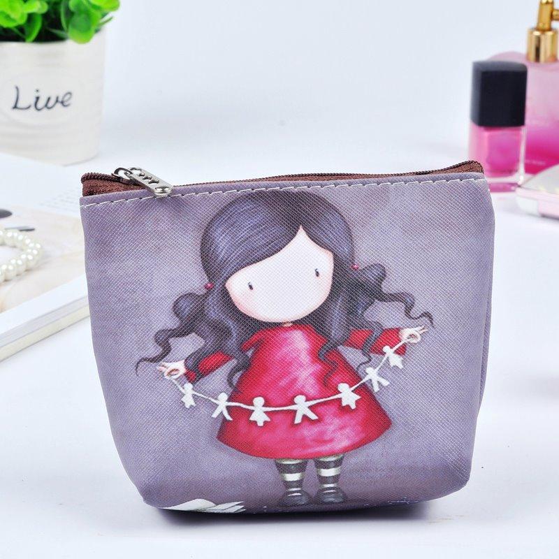 Cartoon Cute Girl Painting Women Makeup Bag Coin Wallet Purse (12730454) photo