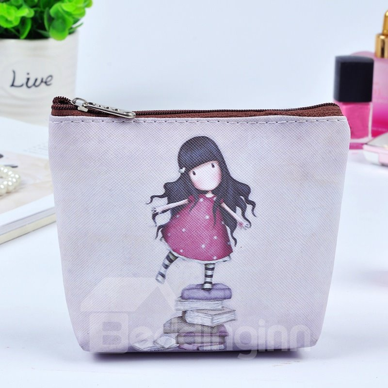 Lovely Girl Painting Women Makeup Bag Coin Wallet Purse (12730455) photo