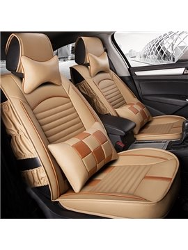 Special Side Fold Craft Durable PU Leather Material Universal Five Car Seat Cover