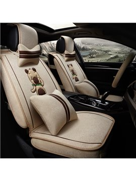 Lovely Little Bear Style Design High-Grade Mixed Material Universal Five Car Seat Cover