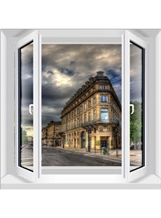 Classic European Building Window Scenery Decorative 3D Wall Stickers