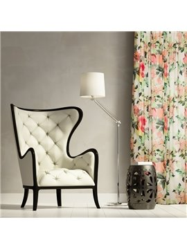 Contemporary Country Style Cotton and Linen Blending Custom Curtain