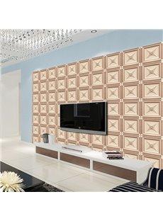 Fancy Creative Regular Plaid Pattern TV Background Decoration Wall Murals