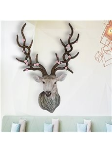 Fabulous American Country Style Sika Deer Shape Design 3D Wall Decor