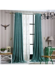 Contemporary Concise Blue Blackout Custom Curtain