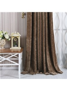 Contemporary Concise Dark Brown Blackout Custom Curtain