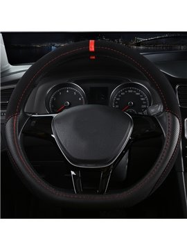 High-Grade Luxury D-Type Microfiber Leather Material Medium Sport Car Steering Wheel Cover