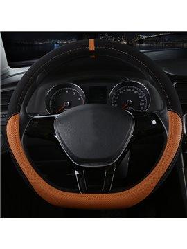 High Grade Luxury D Type Microfiber Leather Material Medium Car Steering Wheel Cover