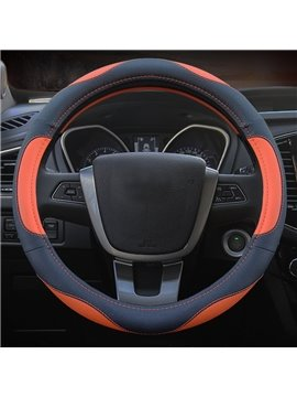 New Style Perfect Match Contrast Color Pattern PU Material Car Steering Wheel Cover