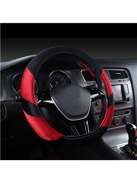 Durable And Textured Popular Cost-Effective Short Plush Medium Car Steering Wheel Cover