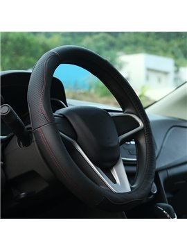 Elegant And Graceful Leather Material Medium Steering Wheel Cover