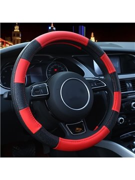 Fashion Shining Tangerine Pattern Combination Of Black And Red Medium Steering Wheel Cover