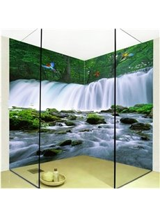 American Style Beautiful Waterfalls Scenery Waterproof 3D Bathroom Wall Murals