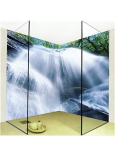 Unique Magnificent Waterfalls Pattern Waterproof 3D Bathroom Wall Murals