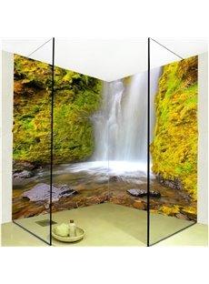 Wonderful Waterfalls Scenery Pattern Waterproof 3D Bathroom Wall Murals