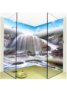 Magnificent Waterfalls Pattern Design Waterproof 3D Bathroom Wall Murals