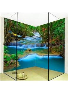 Fancy Mountain Stream Natural Scenery Design Waterproof 3D Bathroom Wall Murals