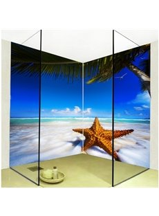 Leisurely Beautiful Seaside Scenery Pattern 3D Bathroom Wall Murals