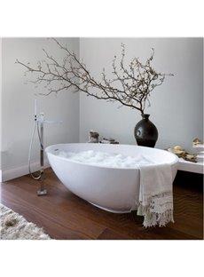 Simple Style White Flower Vase Pattern Waterproof 3D Bathroom Wall Murals