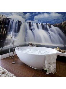 Magical Design Waterfalls Scenery Waterproof Decorative 3D Bathroom Wall Murals