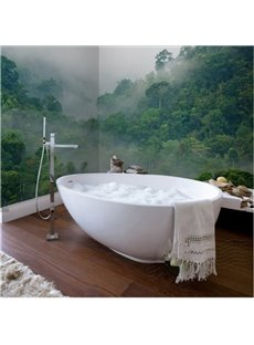 Green Magnificent Mountain Scenery Waterproof 3D Bathroom Wall Murals