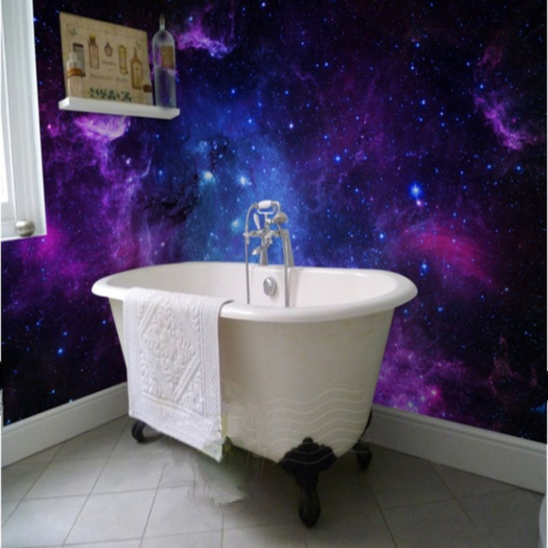 Dreamy european style galaxy starry sky pattern waterproof for 3d wallpaper for bathroom