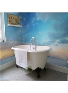 Amazing Sunset Sky and Sea Scenery Pattern Waterproof 3D Bathroom Wall Murals