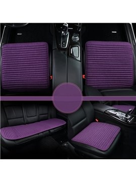 Luxury Purple Style Durable PET Material 3-Pieces Universal Car Seat Mat