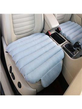 Unique 3D Design Velvet Surface Material And High-Grade Cotton Filler 1-Piece Gray Front Car Seat Mat
