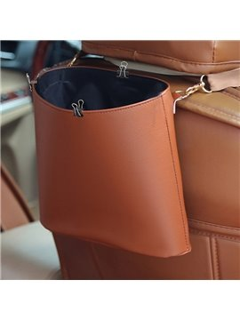 High Capacity Multi-Functional Use Durable PU Material Hanging Style Car Trash Can