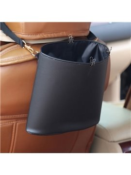 High Capacity Durable PU Material Hanging Style Car Trash Can
