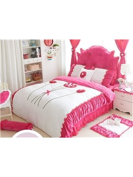 Pretty Romantic Flower Style 4-Piece Duvet Cover Sets