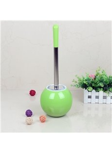 Creative Design Green PVC Toilet Brush and Holder