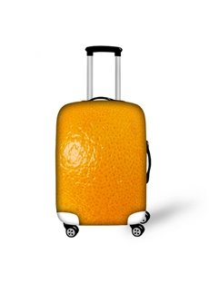 Bright Orange Peel Pattern 3D Painted Luggage Cover