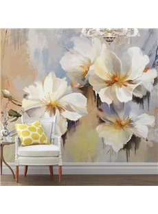 Unique Modern Design Flowers Pattern Waterproof 3D Wall Murals