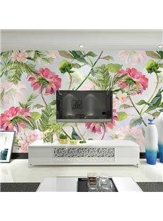 Decorative Beautiful Flowers Pattern Waterproof 3D Wall Murals