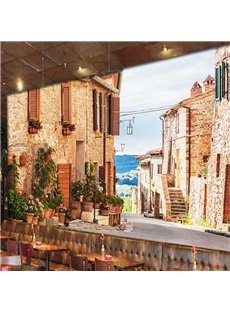 European Style Country Style Small Town Pattern Waterproof 3D Wall Murals