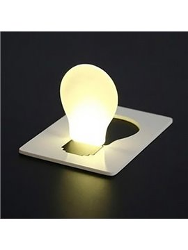 Creative Design Ultrathin Portable LED Battery Credit Card Light Bulb
