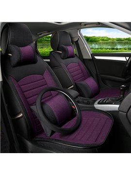 Charming Purple Cost-Effective PET Material Popular Universal Five Car Seat Cover